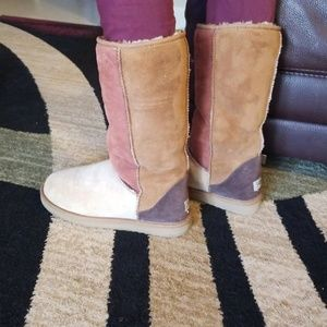 Ugg Australia Leather&Sheepskin Boots